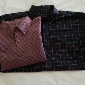 Lot of 2 mens Jos.A.Bank dress shirts,  size XL